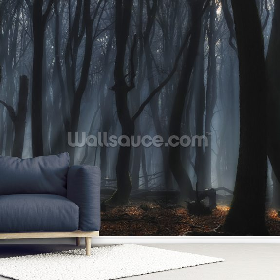 Dancing Trees wall mural room setting