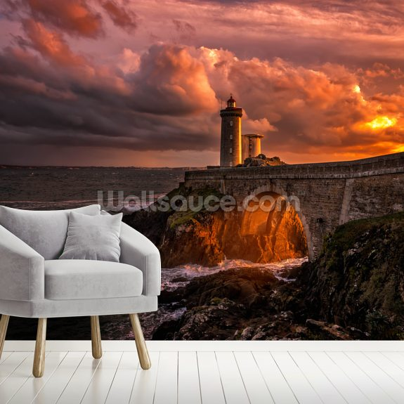 Sun is Down wall mural room setting