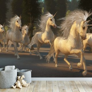 Magical Unicorn Forest Wallpaper Wall Murals