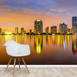 Miami Biscayne Bay Skyline