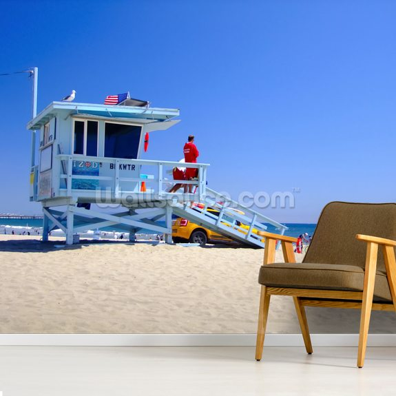 Los Angeles Lifeguards mural wallpaper room setting