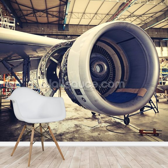 Jet engine wallpaper mural wallsauce us - Jet engine wallpaper ...