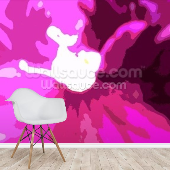 Raspberry Crush (colour photo) wall mural room setting