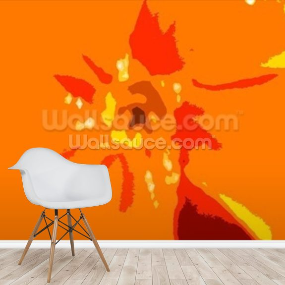 Sunshine Camouflage (colour photo) wallpaper mural room setting