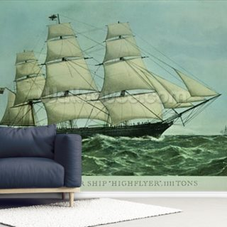 The Clipper ship Highflyer, 1111 tons (colour litho)