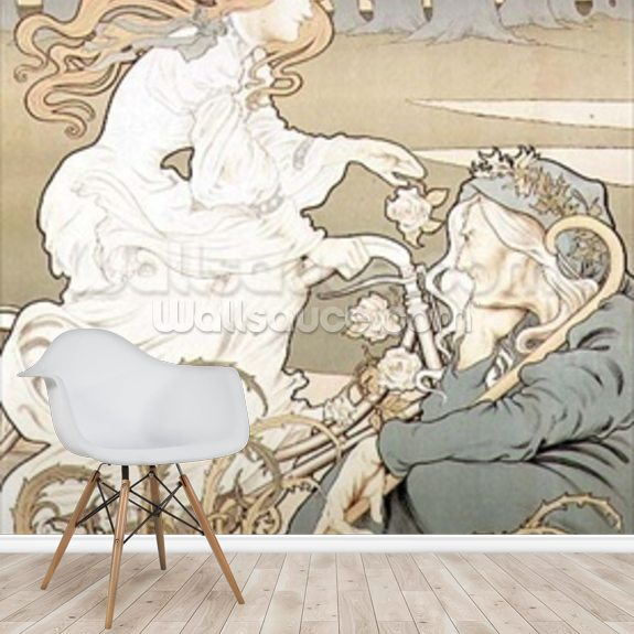 Cycling poster by Tairiet, (c.1898) wallpaper mural room setting