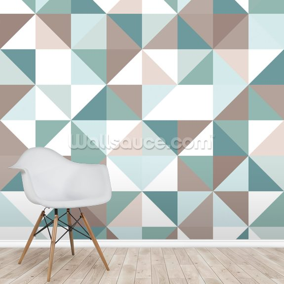 When Triangles are Squares wall mural room setting