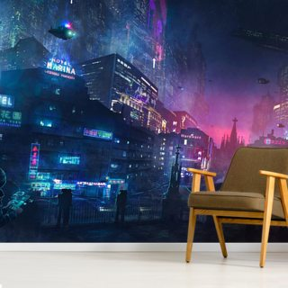 Futurescape Barcelona Wallpaper Wall Murals