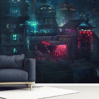 Future Man Electro Wallpaper Wall Murals