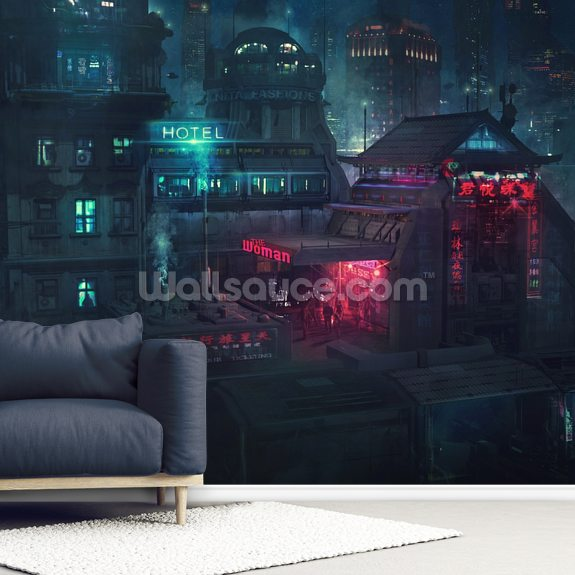 Future Man Electro wallpaper mural room setting