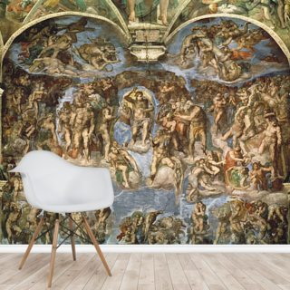 Last Judgement, Sistine Chapel, 1538-41 Wallpaper Wall Murals