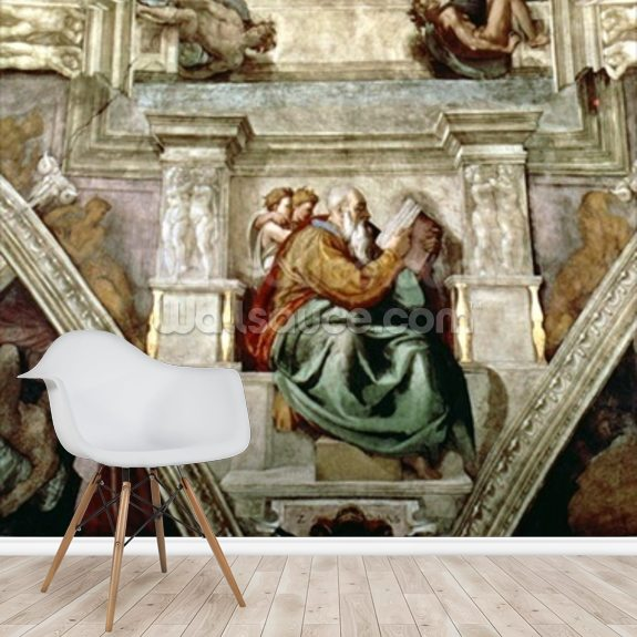 Sistine Chapel Ceiling, 1508-12 mural wallpaper room setting