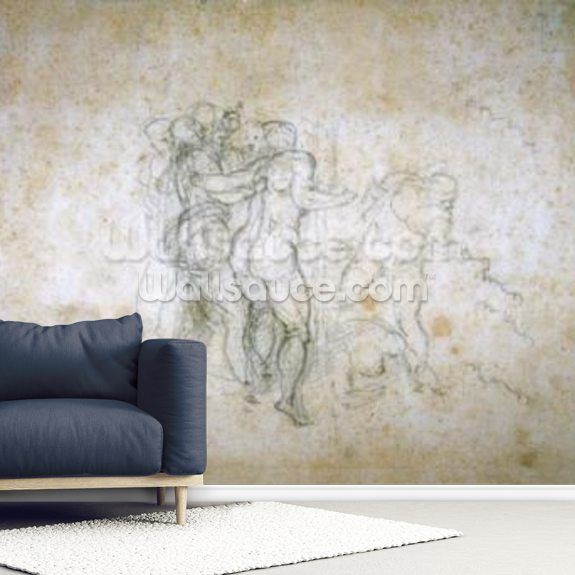 Study for the Last Judgement wallpaper mural room setting