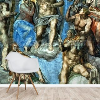 Christ, The Last Judgement, Sistine Chapel Wallpaper Wall Murals