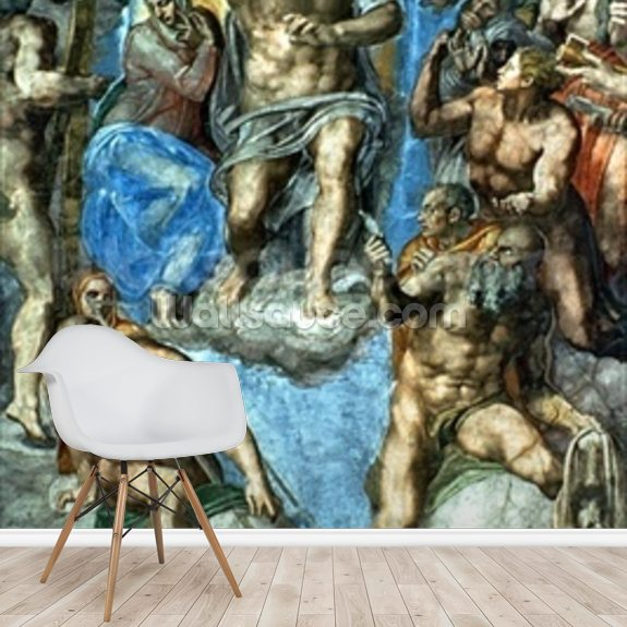 Christ, The Last Judgement, Sistine Chapel wallpaper mural room setting