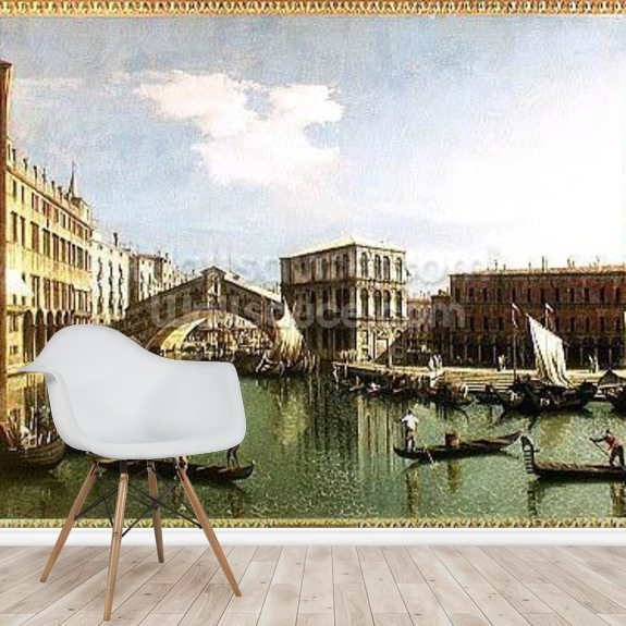 The Rialto Bridge, Venice wall mural room setting