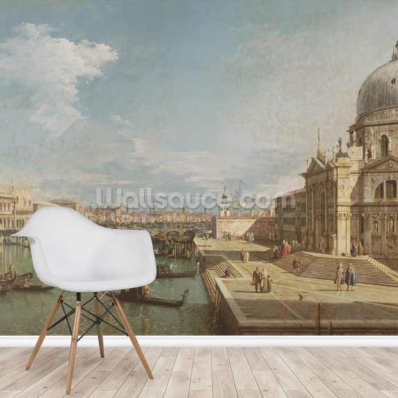Grand Canal and Church of Santa Maria della Salute mural wallpaper room setting