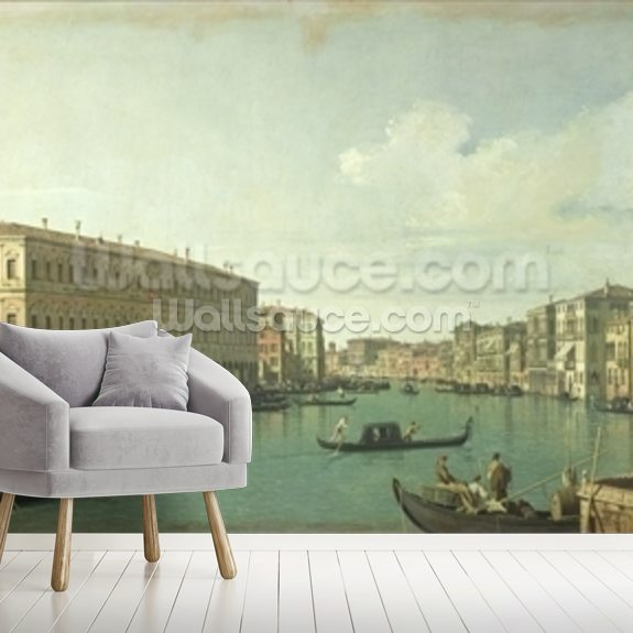 Grand Canal from Rialto Bridge wall mural room setting