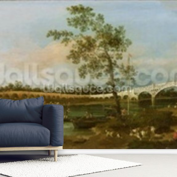 Old Waltons Bridge, 1755 wallpaper mural room setting