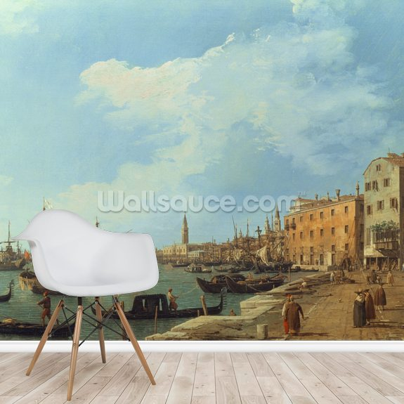 The Riva Degli Schiavoni, 1724-30 mural wallpaper room setting