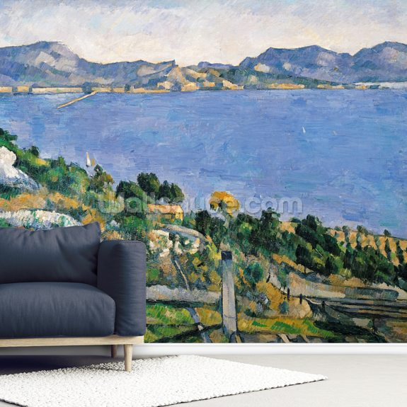 Lestaque, View of the Bay of Marseilles, c.1878-79 wall mural room setting