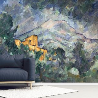 Montagne Sainte-Victoire and Black Chateau, 1904-06 Wallpaper Wall Murals