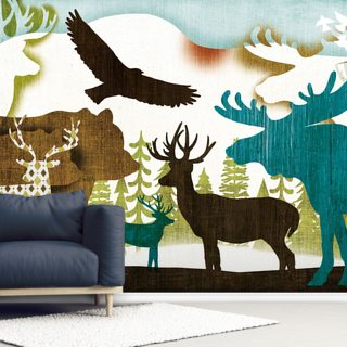 Dweller Collage II Wallpaper Wall Murals