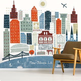 Colourful New Orleans Wallpaper Wall Murals