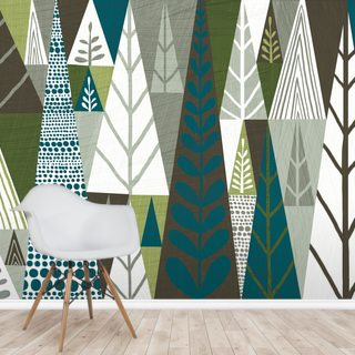 Forest Green Geometric