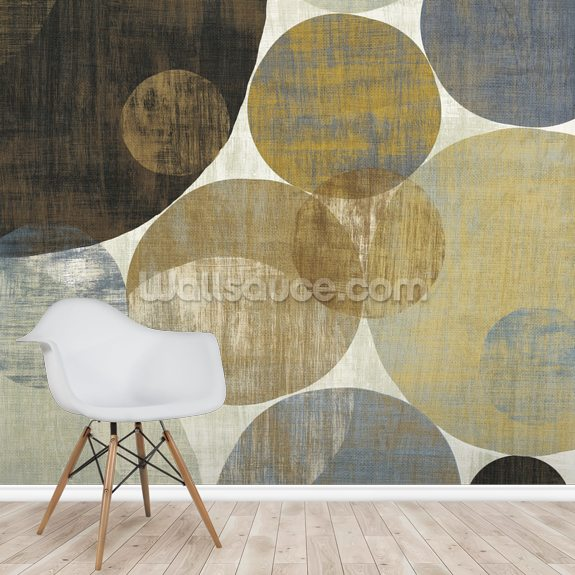 Circulation II mural wallpaper room setting