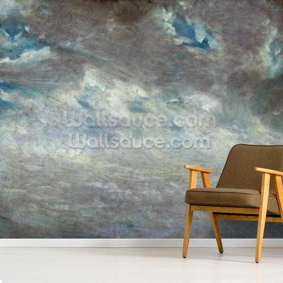 Cloud Study, 1821 (oil on paper on board) mural wallpaper room setting