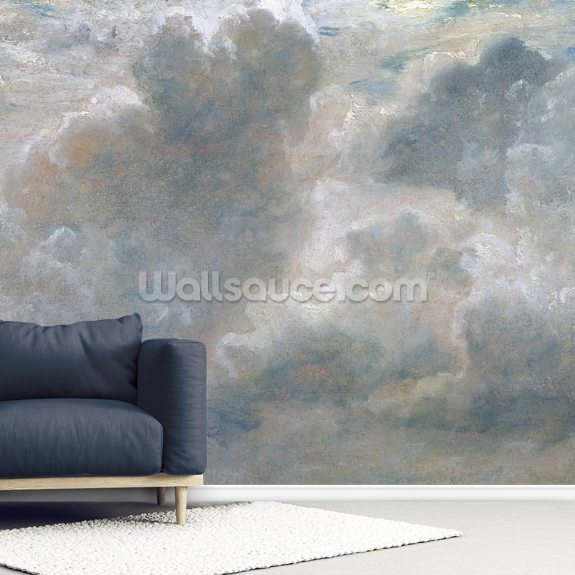 Study of Cumulus Clouds, 1822 wall mural room setting
