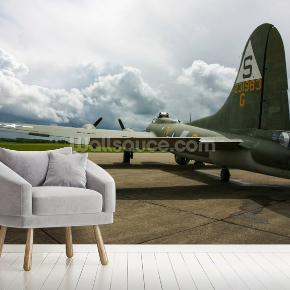 B17 Flying Fortress wallpaper mural room setting