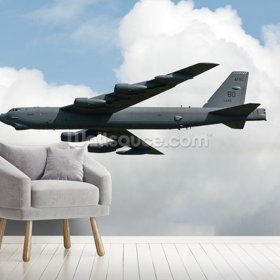 B52 Bomber wall mural room setting
