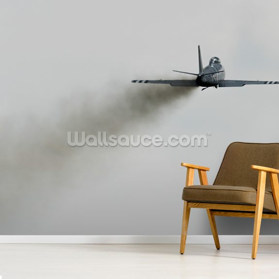 F-86 Sabre Dirty Air mural wallpaper room setting