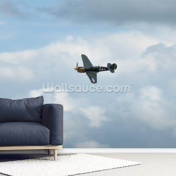 P40 Warhark wallpaper mural room setting