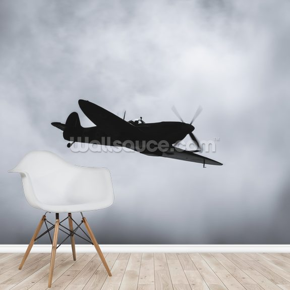 Spitfire Ace wallpaper mural room setting