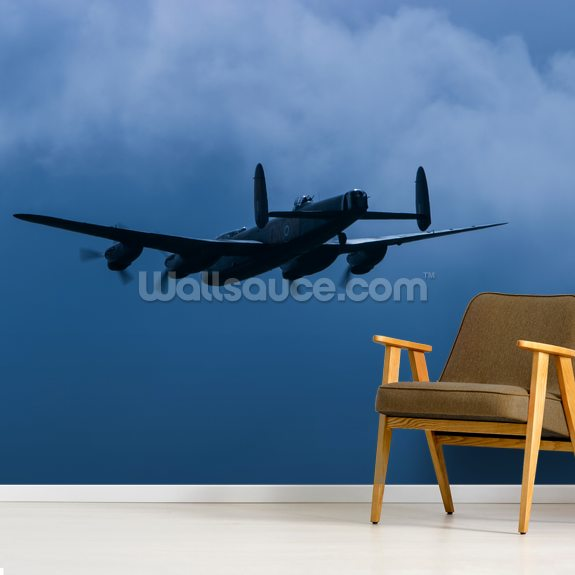 Lancaster Bomber mural wallpaper room setting