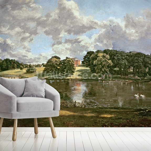 Wivenhoe Park, Essex, 1816 (oil on canvas) wallpaper mural room setting