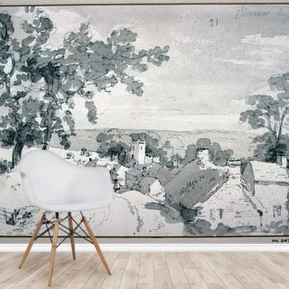 The Entrance to the Village of Edensor, 1801 Wallpaper Wall Murals