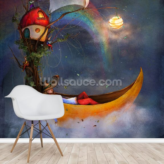 The Day Sleeper wall mural room setting