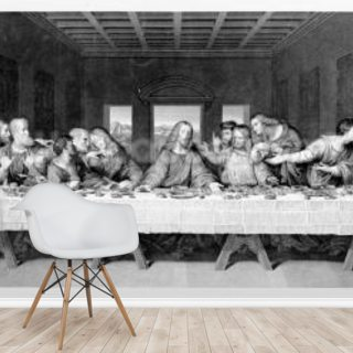 The Last Supper, engraved by Frederick Bacon, 1863 (engraving)