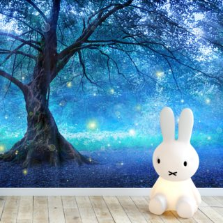 Enchanted Blue Woodland Wallpaper Wall Murals