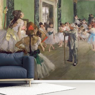 The Dancing Class, c.1873-76 (oil on canvas) Wallpaper Wall Murals