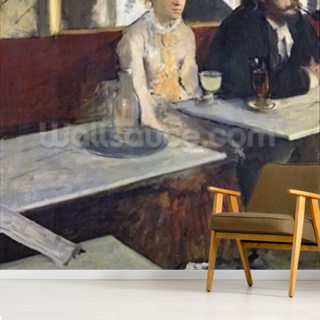 In a Cafe, or The Absinthe, c.1875-76 (oil on canvas) Wallpaper Wall Murals