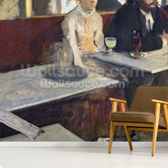 In a Cafe, or The Absinthe, c.1875-76 (oil on canvas) wall mural room setting