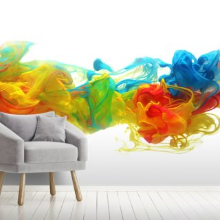 Colourful Ink in Water Wallpaper Wall Murals