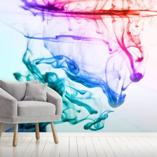 Green Blue Purple Fluid Wallpaper Wall Murals