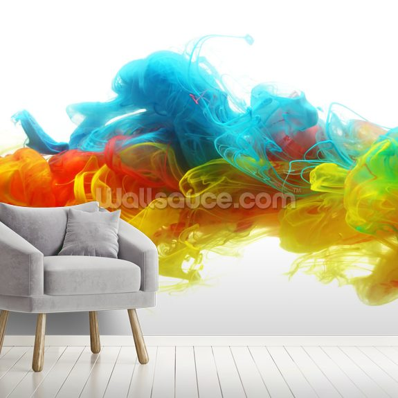 Clouds of Colour mural wallpaper room setting