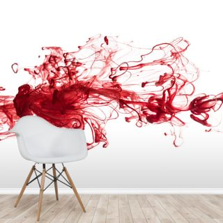 Red Ink In Water Wallpaper Wall Murals